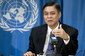 Sihasak Phuangketkeow, President of the Human Rights Council, Fifth Cycle (2010 - 2011) - � UN Photo/ Jean-Marc Ferr�