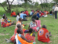 The Special Rapporteur meets the Maasai Community in Maasai Mara, Kenya